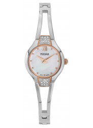 Pulsar Women's Mother Of Pearl Dial Silver Tone Watch PTA502