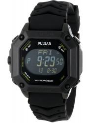 Pulsar Men's Digital Black Rubber Watch PW3003