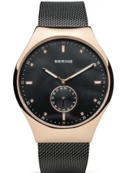 Bering Men's Smart Traveller Black Dial Stainless Steel Mesh Watch 70142‐262
