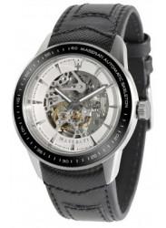 Maserati Men's Black Leather Automatic Watch R8821110003