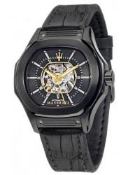 Maserati Men's Black Dial Leather Strap Watch R8821116008