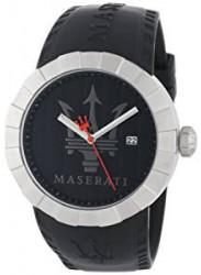 Maserati Men's Tridente Black Rubber R8851103002