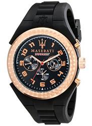 Maserati Men's Black Rubber Watch R8851115008