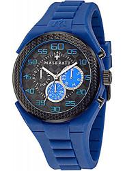 Maserati Men's Pneumatic Blue Rubber Strap Watch R8851115011