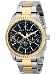 Maserati Men's Competizione Black Dial Two Tone Watch R8853100008