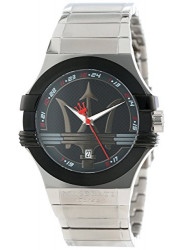 Maserati Men's Potenza Stainless Steel Black Dial Watch R8853108001