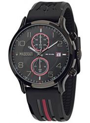 Maserati Men's Epoca Black Dial Black Strap Watch R8871618005