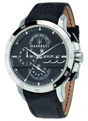 Maserati Men's Ingegno Chronograph Black Leather Strap Watch R8871619004