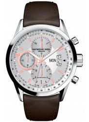 Raymond Weil Men's Freelancer Automatic Chronograph Brown Leather Watch 7730-STC-65025