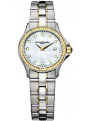 Raymond Weil Women's Parsifal Mother of Pearl Dial Two Tone Dial Watch 9440-STS-97081