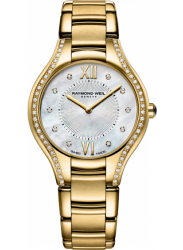 Raymond Weil Women's Noemia Mother Of Pearl Dial Gold Tone Watch 5132-PS-00985