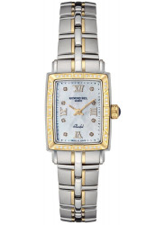 Raymond Weil Women's Parsifal Mother Of Pearl Dial Two Tone Watch 9740-STS-00995