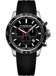 Raymond Weil Men's Tango Chronograph Black Dial Black Rubber Watch 8560-SR1-20001