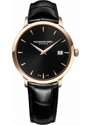 Raymond Weil Men's Toccata Black Dial Black Leather Watch 5488-PC5-20001