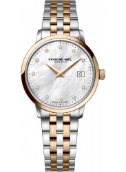 Raymond Weil Women's Toccata Mother Of Pearl Dial Two Tone Watch 5988-SP5-97081