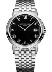 Raymond Weil Men's Tradition Black Dial Stainless Steel Watch 5466-ST-00208