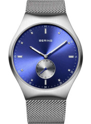 Bering Men's Smart Traveller Blue Dial Stainless Steel Mesh Watch 70142‐807