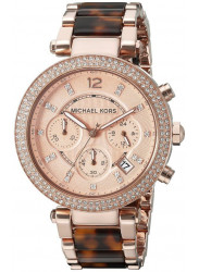 Michael Kors Women's Parker Chronograph Rose Gold Watch MK5538