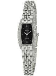 Seiko Women's Solar Black Dial Stainless Steel Watch SUP149