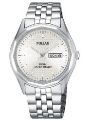 Pulsar Men's Silver Dial Stainless Steel Watch PJ6029