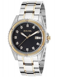 Bulova Men's Two tone Diamond Watch 98D122