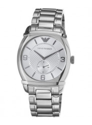 Emporio Armani Men's Silver Dial Stainless-Steel Watch AR0339