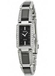 Seiko Women's Solar Black Ceramic Dial Watch SUP171