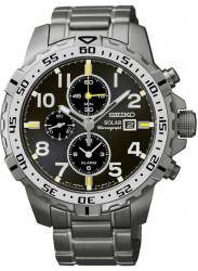 Seiko Men's Solar Chronograph Black Dial Watch SSC307