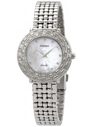 Seiko Tressia Solar Women's Mother of Pearl Dial Stainless Steel Watch SUP373