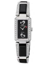 Seiko Women's Tressia Black Dial Crystals Watch SUP187