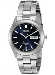 Seiko Men's Titanium Blue Dial Watch SGG709