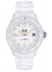 Ice Watch Unisex Ice White White Dial Silicone SI.WE.U.S.09
