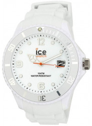Ice-Watch SIWEBBS11 Men's Sili White Resin Quartz Watch with White Dial