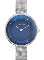 Skagen Women's Gitte Blue Dial Stainless Steel Mesh Watch SKW2293