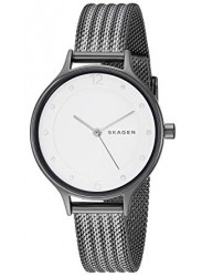 Skagen Women's Anita White Dial Grey Stainless Steel Watch SKW2750