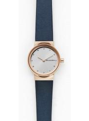 Skagen Women's Freja Silver Dial Blue Leather Watch SKW2744