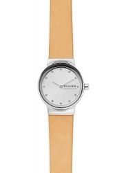 Skagen Women's Freja Silver Dial Tan Leather Watch SKW2776