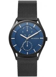 Skagen Men's Holst Blue Dial Black Stainless Steel Watch SKW6450