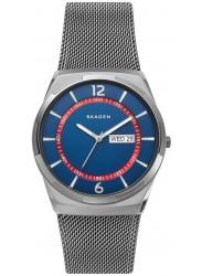 Skagen Men's Melbye Blue Dial Gunmetal Stainless Steel Watch SKW6503