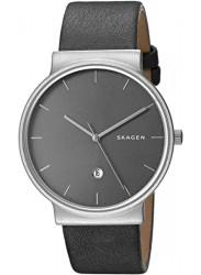 Skagen Men's Ancher Grey Leather Watch SKW6320