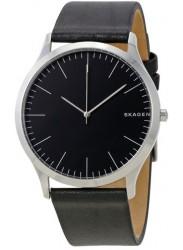 Skagen Men's Jorn Black Leather Watch SKW6329