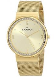 Skagen Women's Ancher Diamond Gold Tone Watch SKW2129