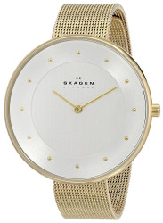 Skagen Women's Gitte Gold Tone Mesh Watch SKW2141