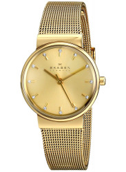 Skagen Ancher Women's Champagne Dial Gold Tone Watch SKW2196
