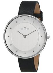Skagen Women's Gitte Black Leather Watch SKW2232