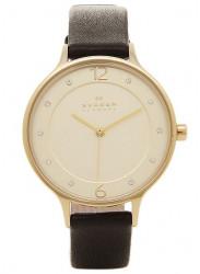 Skagen Women's Anita Black Leather Watch SKW2266