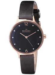 Skagen Anita Grey Dial Rose Gold Tone Stainless Steel Watch SKW2267