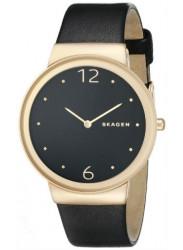 Skagen Women'S Classic Leather Dark Dial Analog Quartz Watch