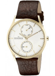 Skagen Men's Holst Leather Quartz Watch