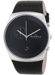 Skagen Men's Havene Black Leather Watch SKW6070